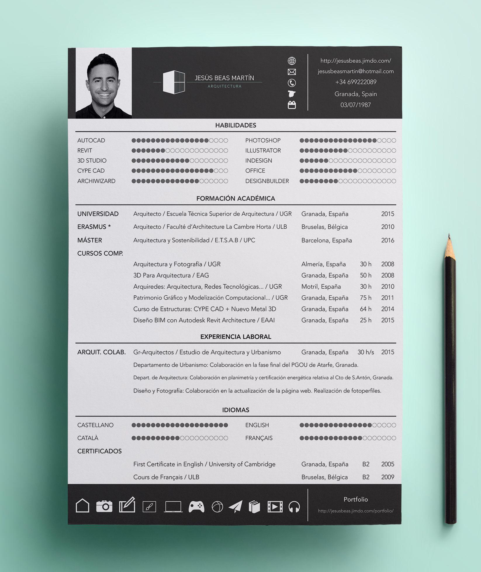 CV - Jesús Beas Martín / Arquitecto | Diseño industrial | Pinterest ...