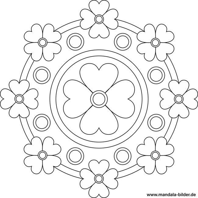 Mandala Mit Blumen Mandala Vorlagen Ausmalbilder Mandala Zum Ausdrucken