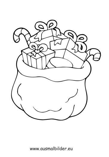 Ausmalbilder Sack Mit Geschenken Weihnachten Malvorlagen Ausmalbilder Ausmalbilder Nikolaus Wenn Du Mal Buch