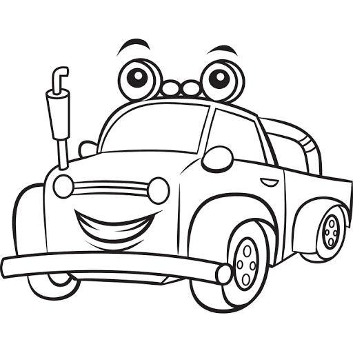 Mewarnai Gambar Mobil Truk Kebun Coloring Character Color
