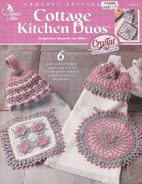 Crochet-Tatting Patterns - Potholders and Towel Toppers | crochet ...