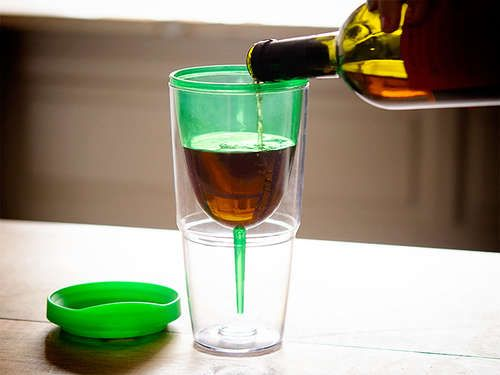 Somebody went and made wine sippy cups. I think these should be ...