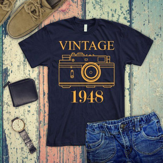 VINTAGE 1948 Shirt 70th Birthday Gift Tank Top Turning 70 Years Old For Him He