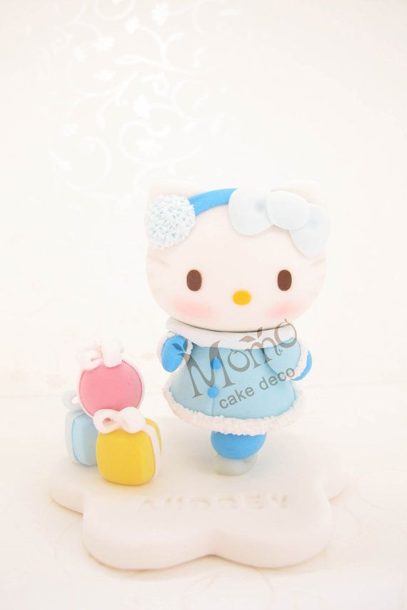 Handmade Hello Kitty Birthday Cake Topper Hello Kitty Figurine