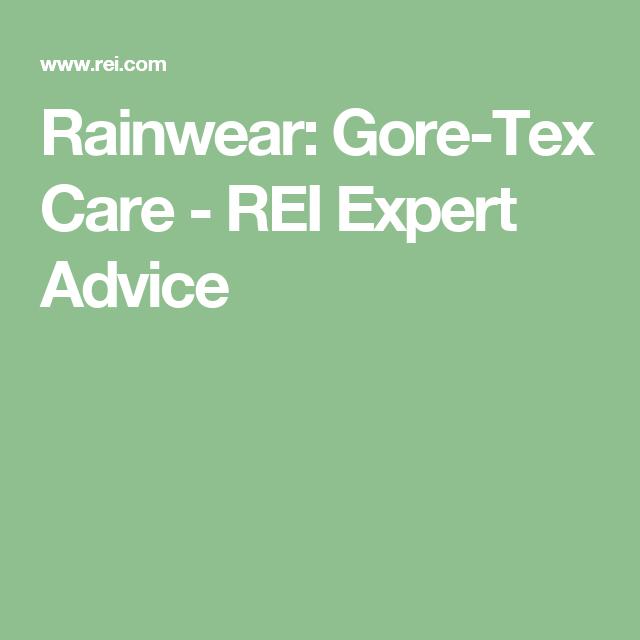 Rainwear Gore-Tex Care - REI Expert Advice  sc 1 st  Pinterest & Rainwear: Gore-Tex Care - REI Expert Advice | Travel | Pinterest ...
