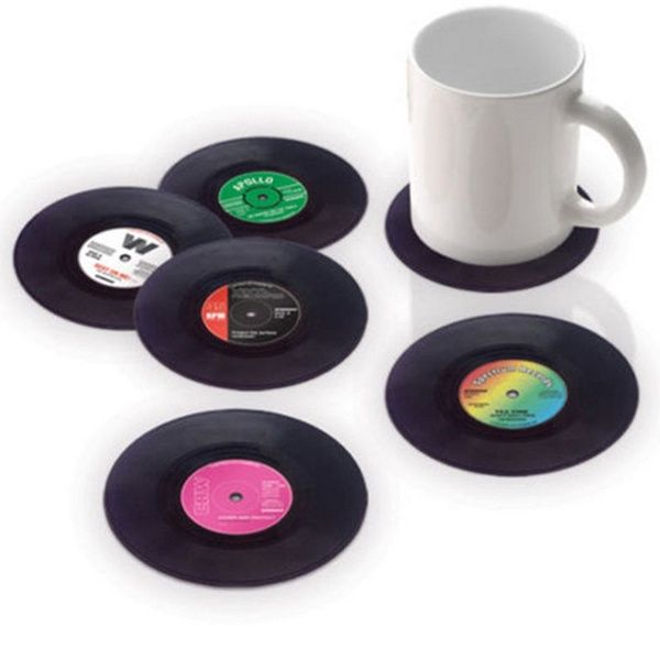 Vinyl Record Drink Coaster Table Placemats Creative Coffee Mug Cup Coasters
