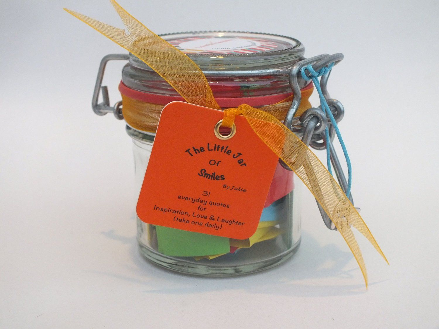 *PRIME DAY SALE* A Month of ★Success & Inspiration★ quotations in a jar. Perfect Inspirational Gift for the loved ones in your life especially for Birthdays, Graduation and other special holidays, a month of motivational Thoughts and Sayings in a 125ml Kilner clip type glass jar to inspire loved ones to happiness & success. For teachers, friends, family and special people in your life - mum, dad, wife, brother, husband, sisters, aunt, uncles ★Start your days with a smile★