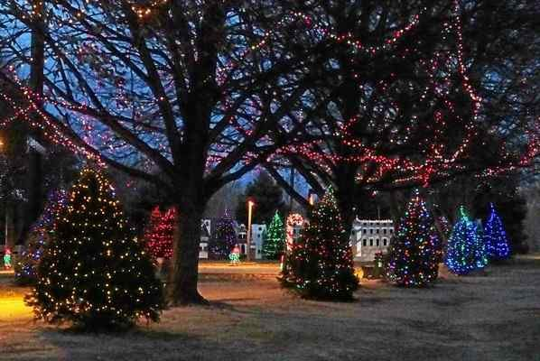 Submitted Photo The annual Festival of Lights runs through Jan. 4 at Rose Tree Park.