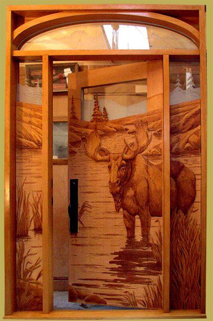 Hand Carved Door WOW!!!! PUERTAS Pinterest Tallado en madera - puertas de madera para bao