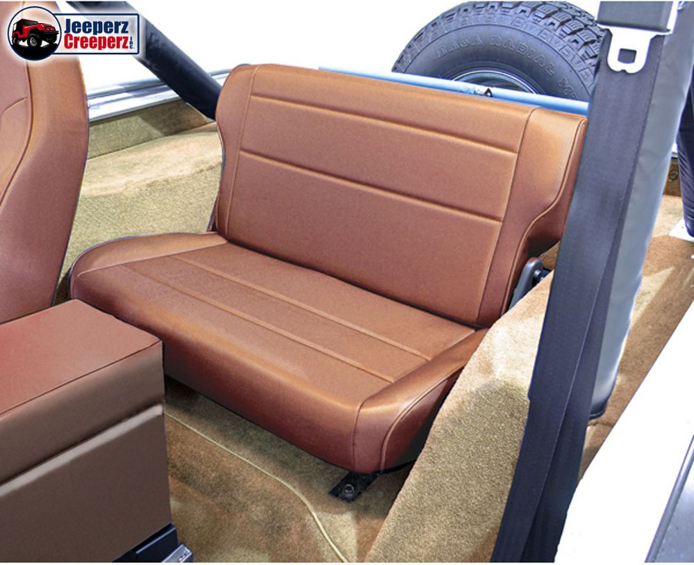 1976 1995 Jeep Cj Yj Wrangler Fold And Tumble Rear Seat Spice 13462 37 Ebay Rear Seat Jeep Cj Neoprene Seat Covers