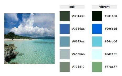 Utilice la paleta de colores generador para crear una combinación de colores de su imagen preferida.
