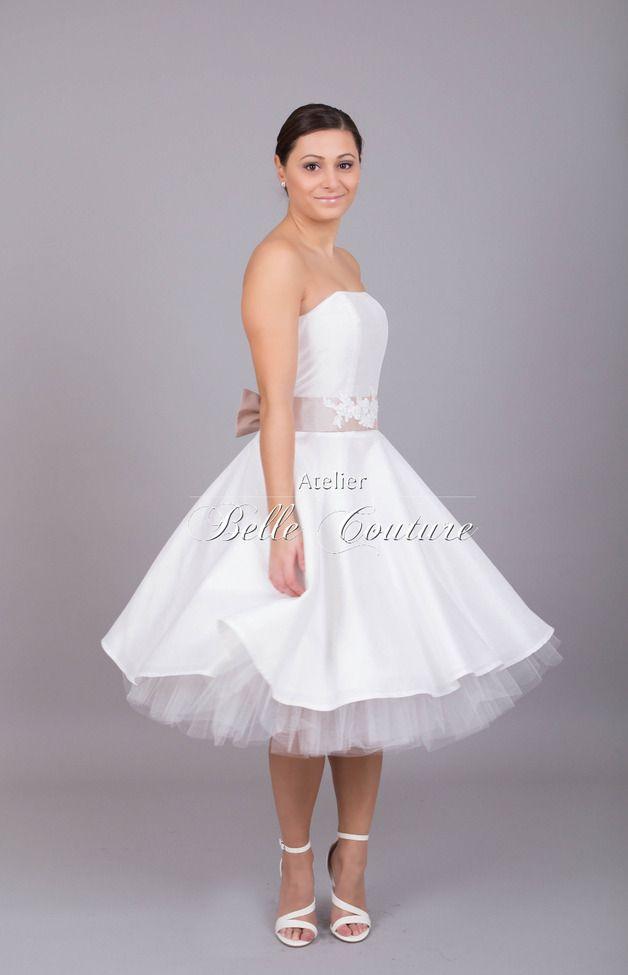 Brautkleider - Petticoat Brautkleid \