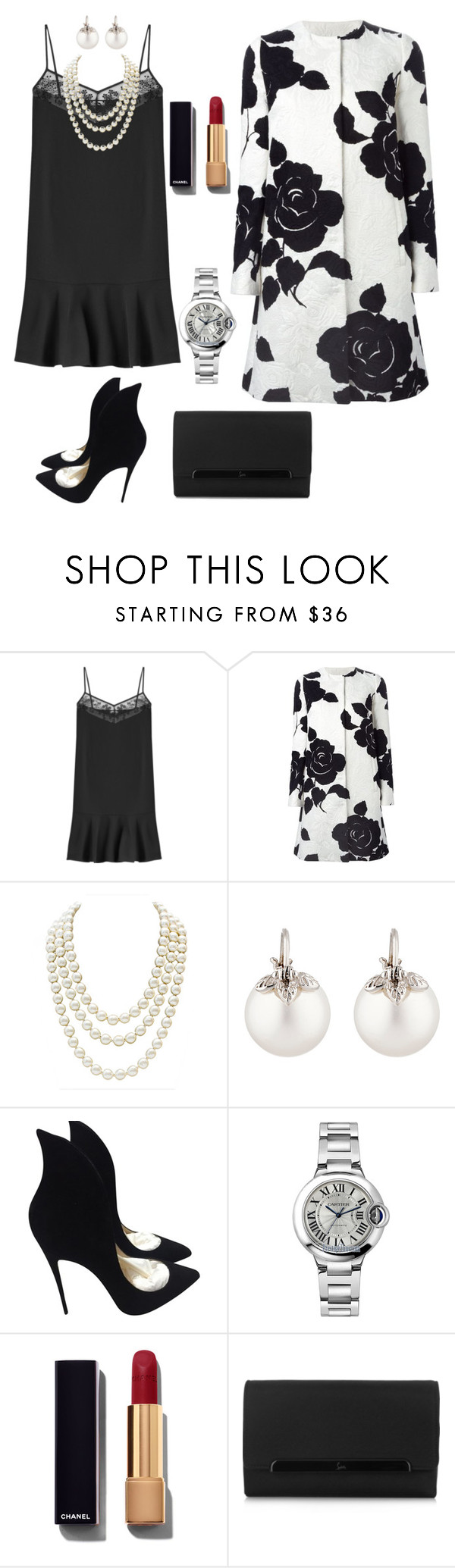 """Glamour!"" by jasive-asseff-jamous ❤ liked on Polyvore featuring Carven, Dolce&Gabbana, Chanel, Samira 13, Christian Louboutin, Cartier, women's clothing, women's fashion, women and female"