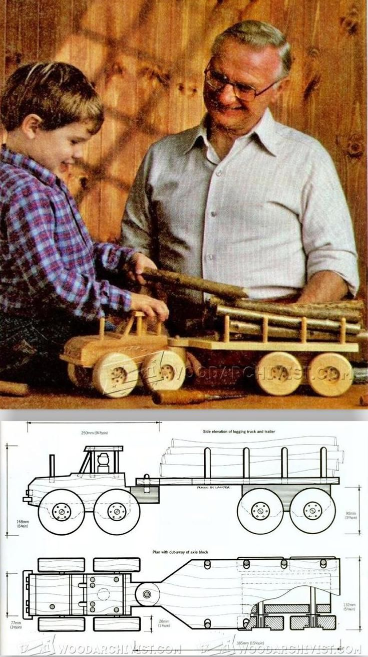 wooden logging truck plans - wooden toy plans and projects