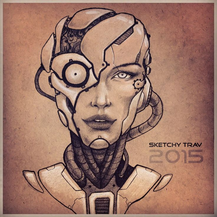 Pretty robot face daily sketch (With images) | Robots ...