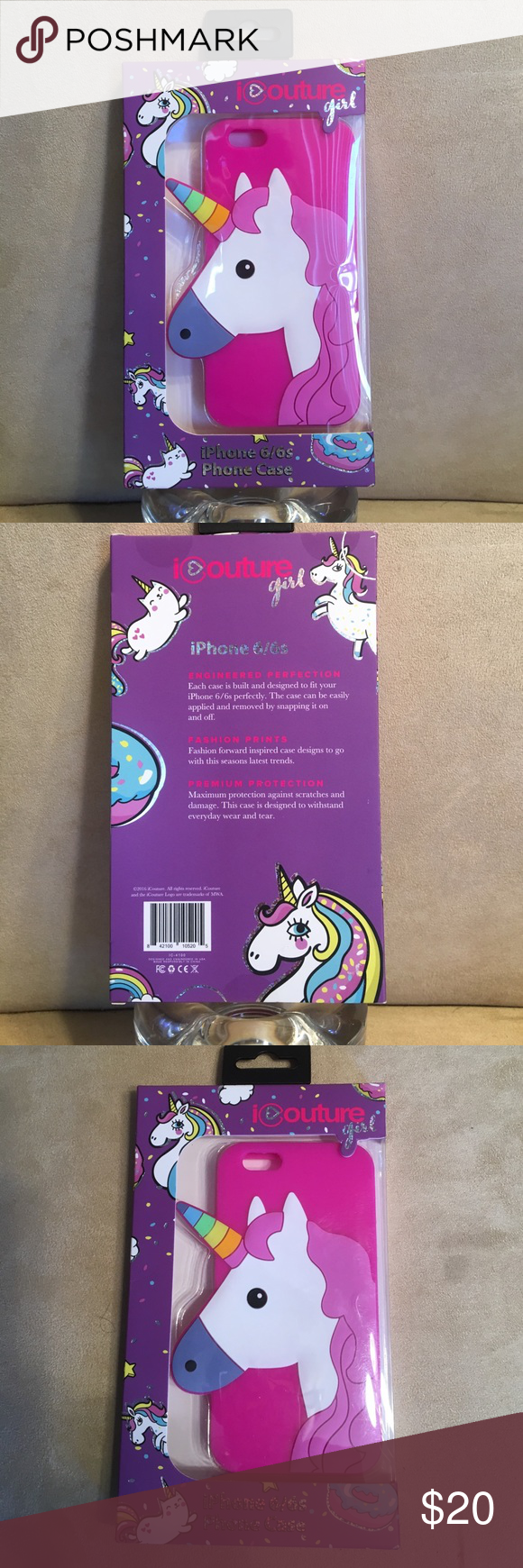 UNICORN  I phone 6 6s phone case. Super fun Unicorn I phone 6 6s phone case.  All the colors on this case make is so beautiful.  What a fun design.  For all you Unicorn  lovers out there, this is a rare find.  This is brand new with out tags.  ❤️️ Accessories Phone Cases