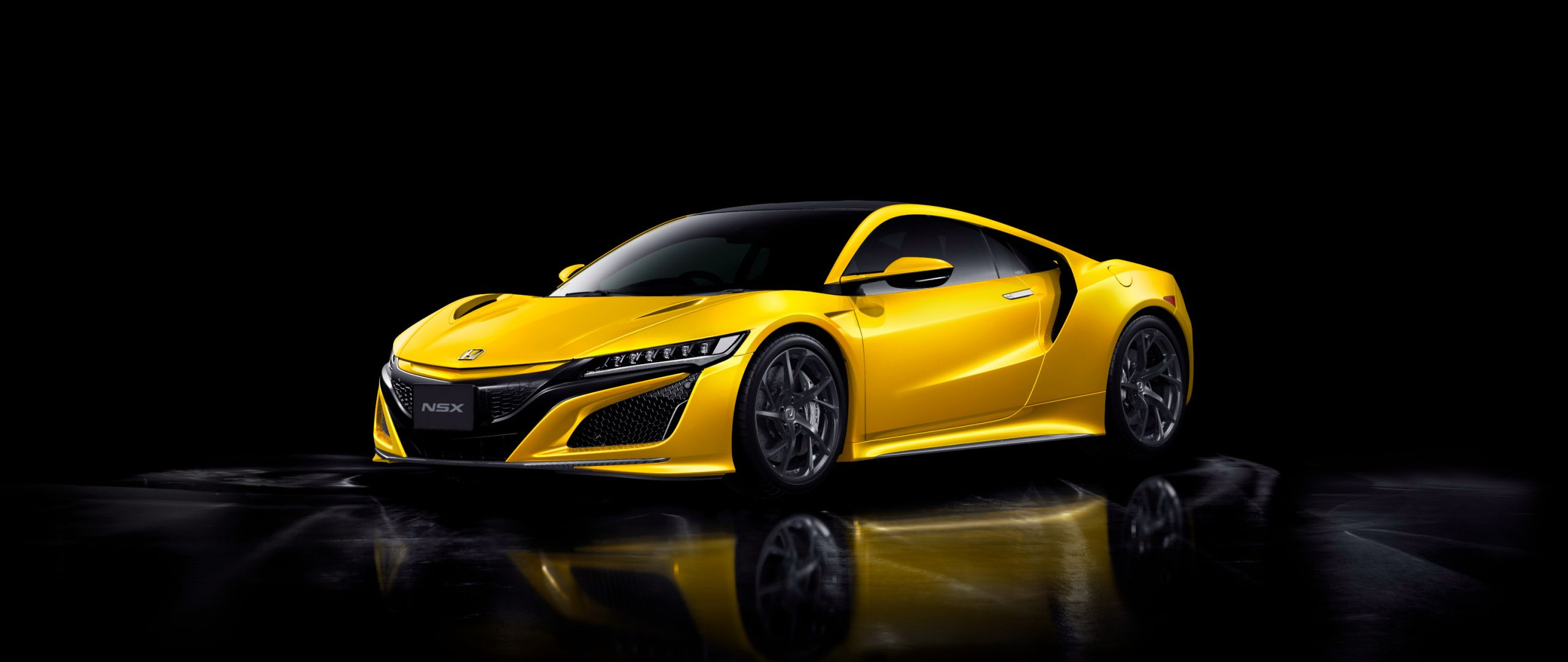 2560x1080 Car Honda Nsx Yellow Wallpaper Nsx Car Wallpapers Car
