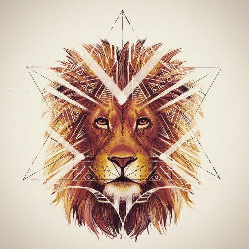 лев в треугольнике картинки самые