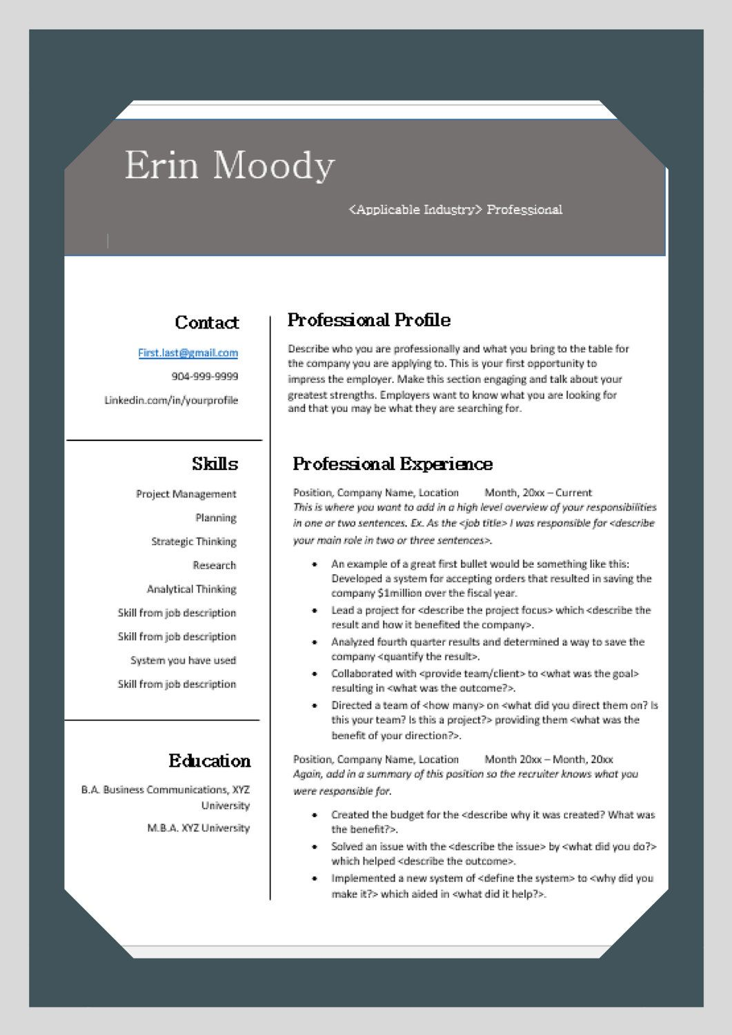 The Perfect Resume Cornerstone for Your Job Search by