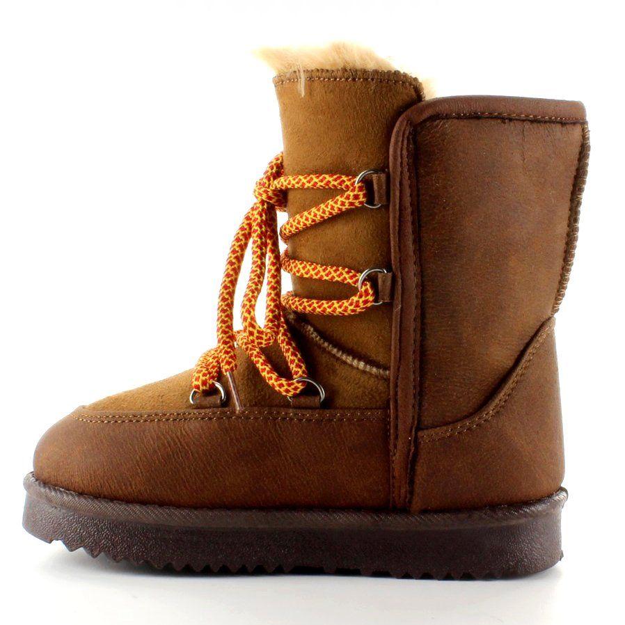 Dzieciece Sniegowce Ksiezycowe K1647403 Brazowe Boots Bean Boots Ll Bean Boot