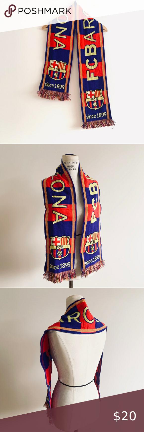 FCB Barcelona Spain Soccer / Football Scarf in 2020