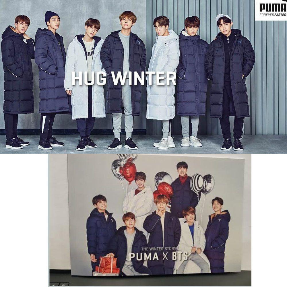 BTS BANGTAN BOYS x PUMA Collabo Long Padded Jacket + Story ...
