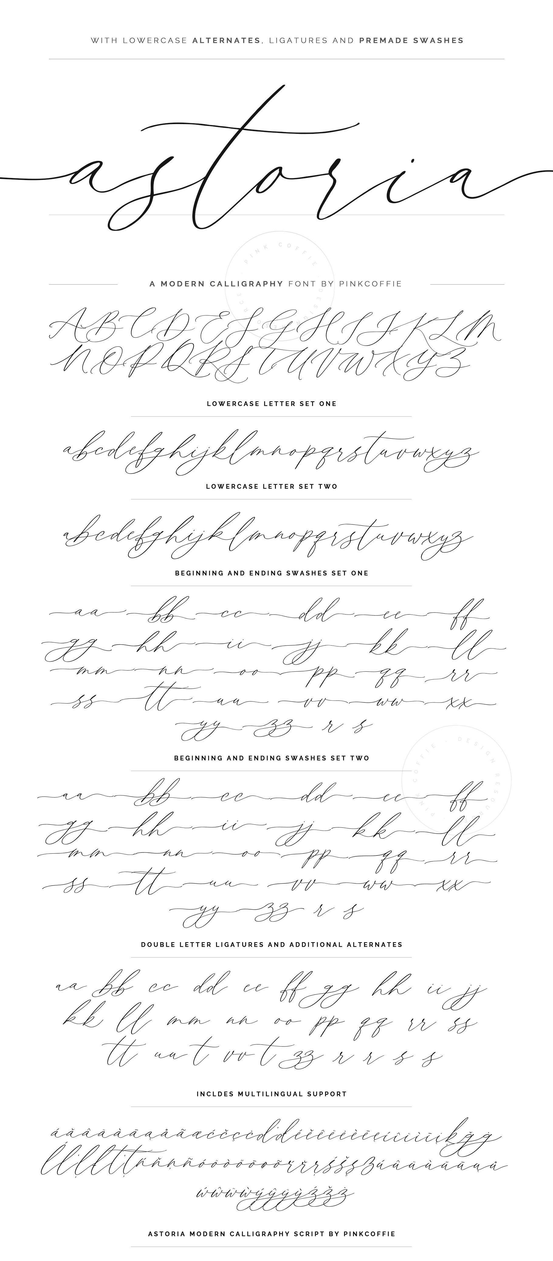 Astoria Modern Calligraphy Script