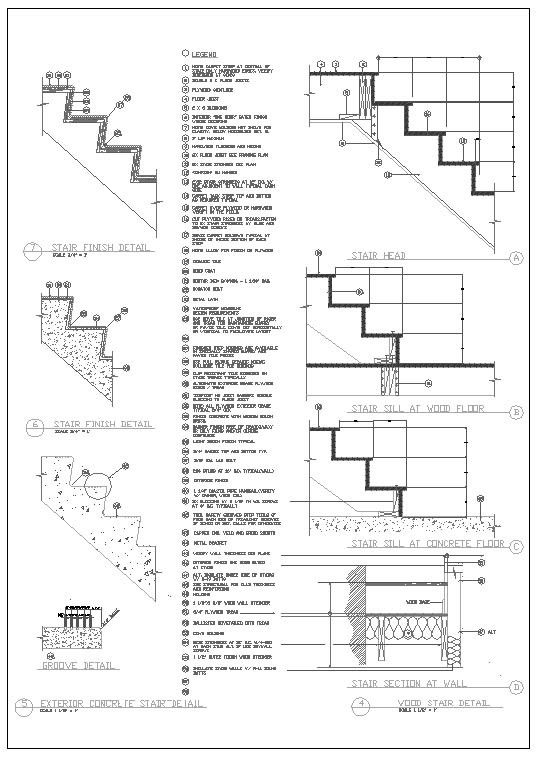 Ornamental Stair And Elevation 25000 Autocad Blocks