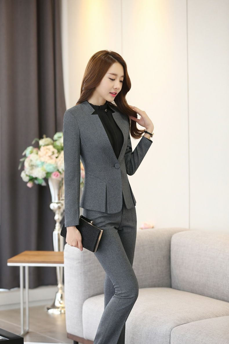 Blue Pink Ladies Blazer Jackets Work Wear 2019 Fashion Casual Long Sleeve Blasers Lady One Button Office Suit Outwear Female Refreshing And Beneficial To The Eyes Suits & Sets Back To Search Resultswomen's Clothing