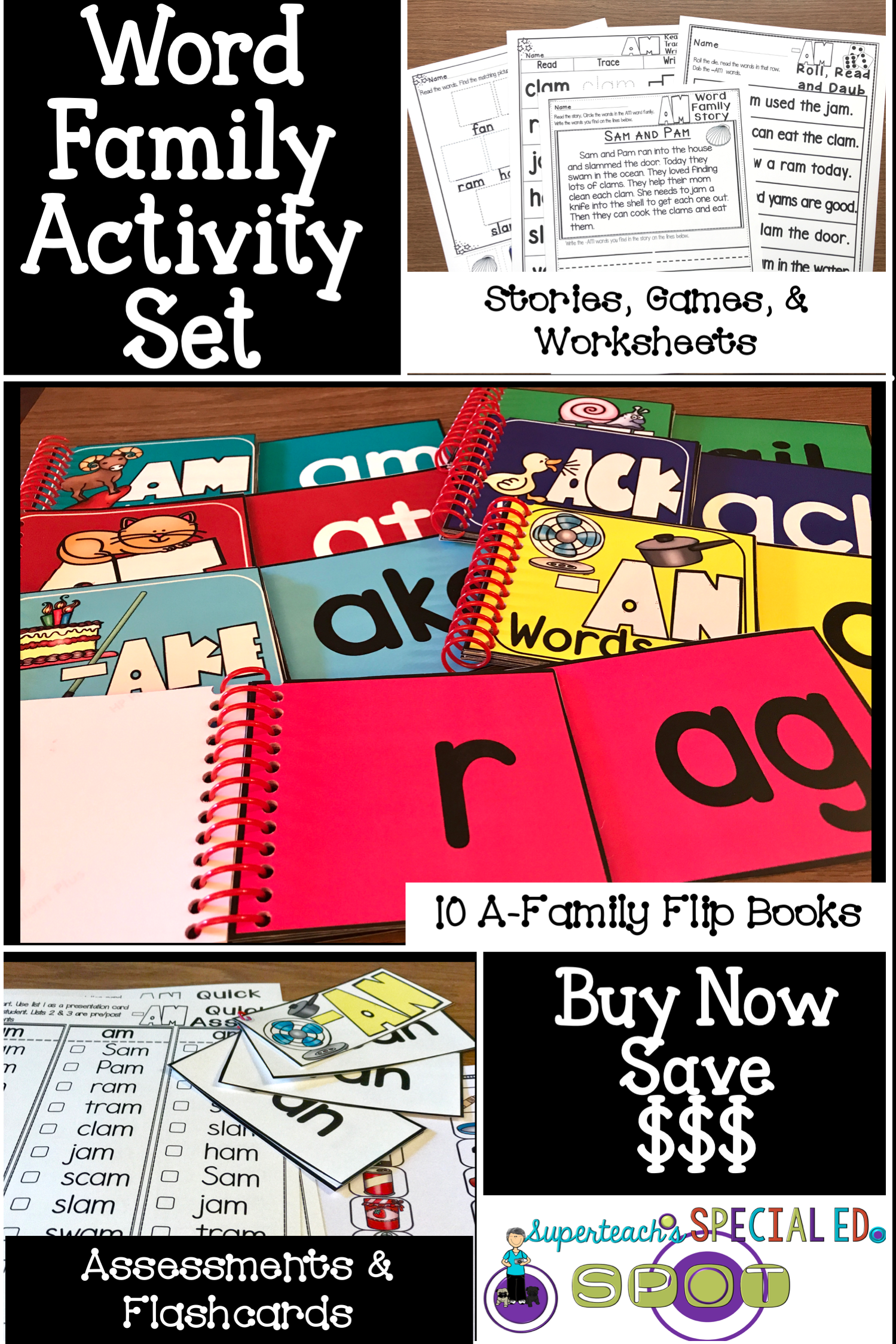 This Special Education Word Family Set Includes 10 Word