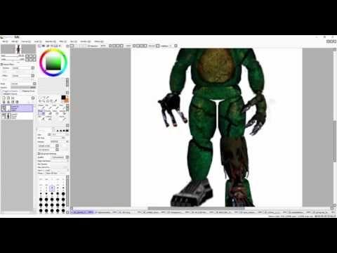 FNAF SpeedEdit]Making Nightmare Withered Phantom Toy Bonnie