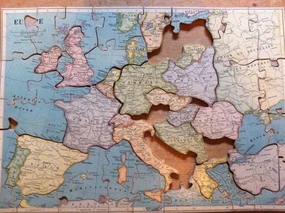 Large antique europe puzzle map puzzle europe france 43 pieces large antique europe puzzle map puzzle europe france 43 pieces travel gumiabroncs Gallery