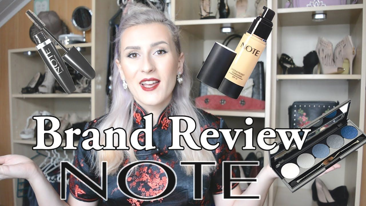 Brand Review Note Cosmetics + Giveaway Cosmetics