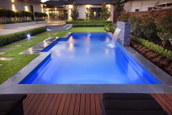 The majestic range a great fibreglass swimming pool this - Swimming pool water features perth ...