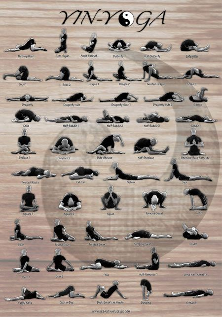 Yin Yoga Poses by Sebastian Pucelle.  Bring the #yin practice into our yang lifestyle to create #balance
