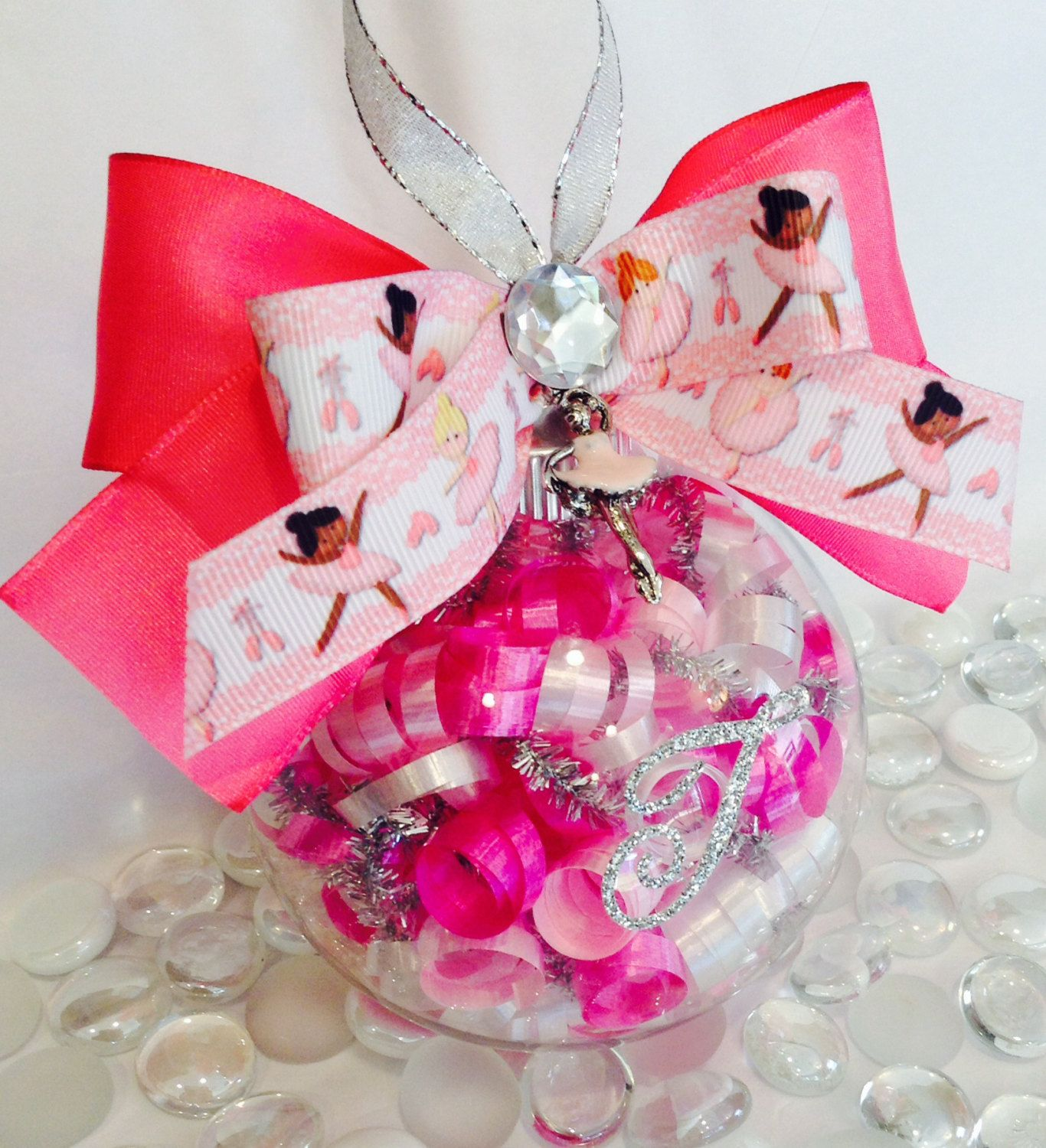 Personalized Ballet Glass Ornament, Pink Ballet Recital Gifts ...