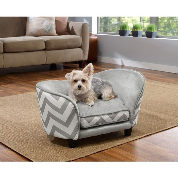 Enchanted Home Pet Ultra Plush Chevron Snuggle Pet Sofa Bed