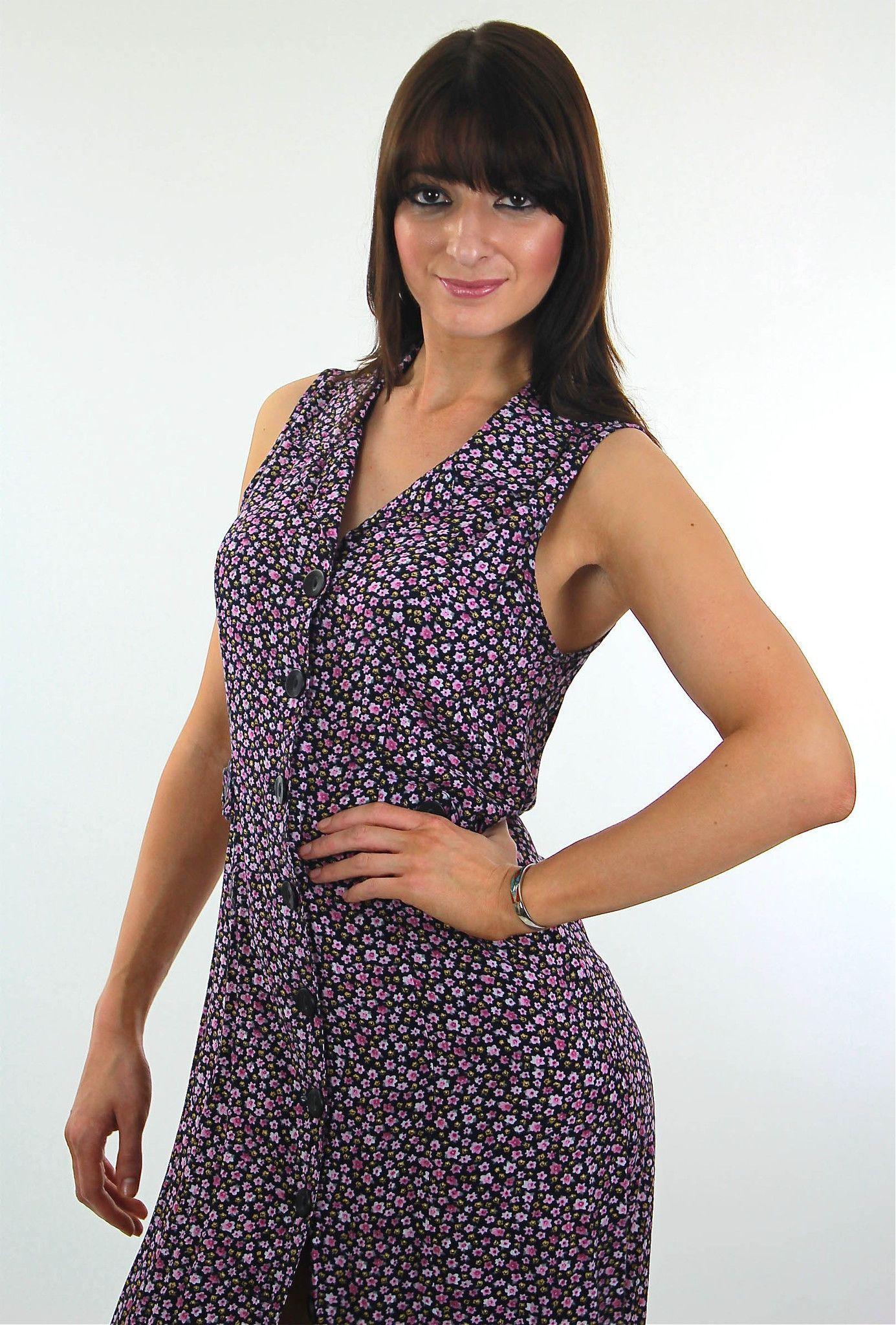 Mini floral maxi dress