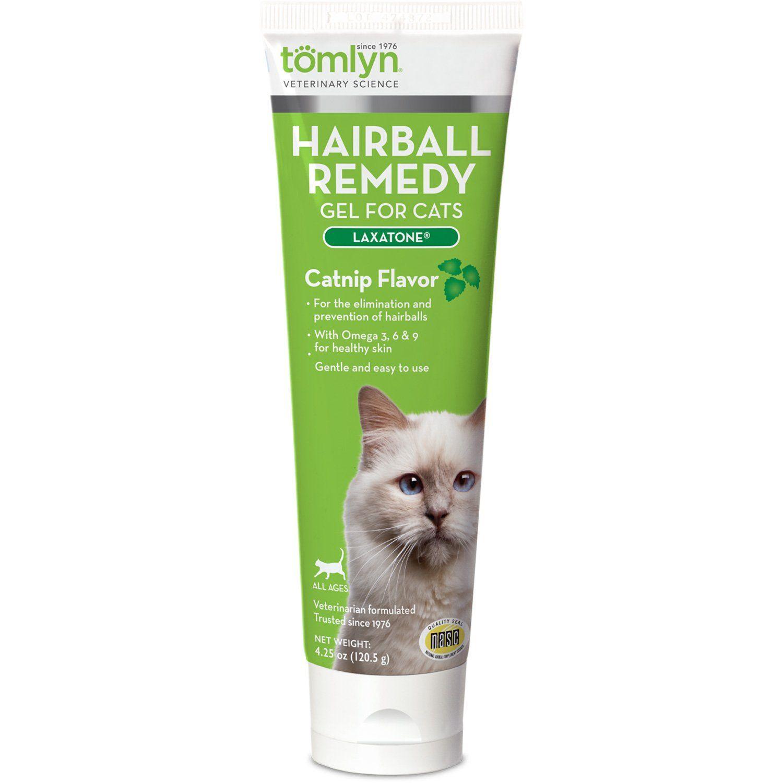 Tomlyn Laxatone Catnip Flavored Hairball Lubricant, 4.25
