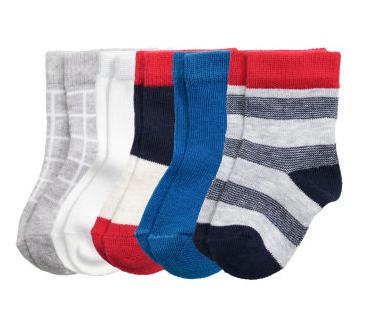 Set 5 calcetines colores -H&M-