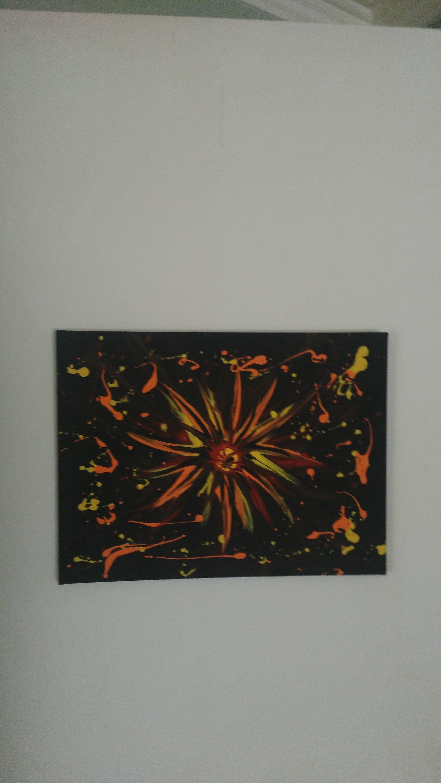 toile tendue abstraite tableau originale peinture acrylique art mural peinture murale