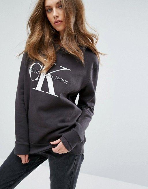b4b750daffd Calvin Klein Sweatshirt    asos. Calvin Klein Jeans Logo ...