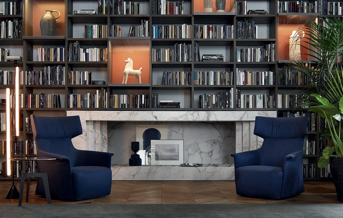 Wall System Bookcase by CR&S Poliform for Poliform | poliform ...