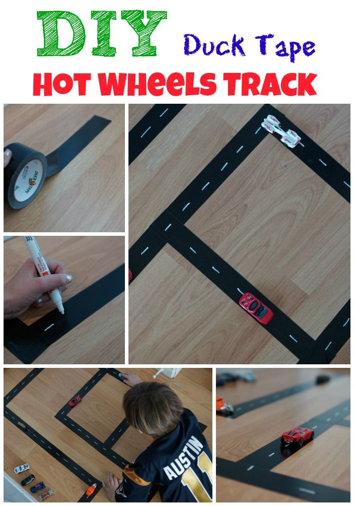 Diy Duck Tape Hot Wheels Track Colt Pinterest Carritos And Juegos