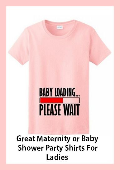 Adorable Baby Shower Shirts For Man And Woman. Will Be A Baby Shower Hit For