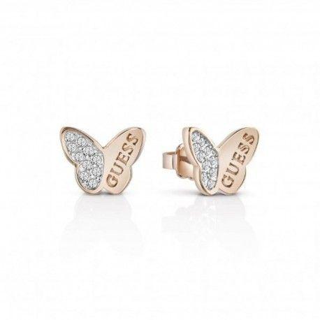 Pendientes Guess Mariposa con cristales. Pendientes Guess UBE83022 Mujer. ·  regalos originales para mi