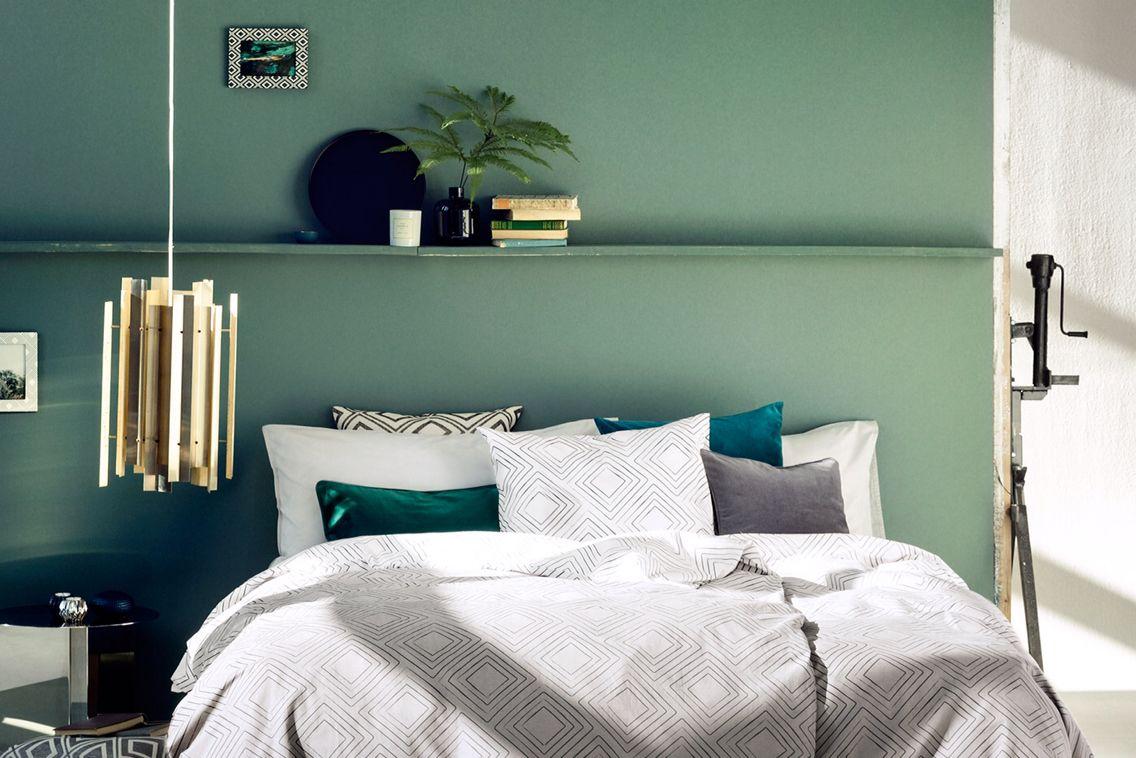 Fresh Mint Wallcolour Bedroom Green Bedroom Interior Bedroom