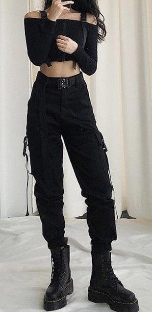 Army Cargo Pants with Buckles