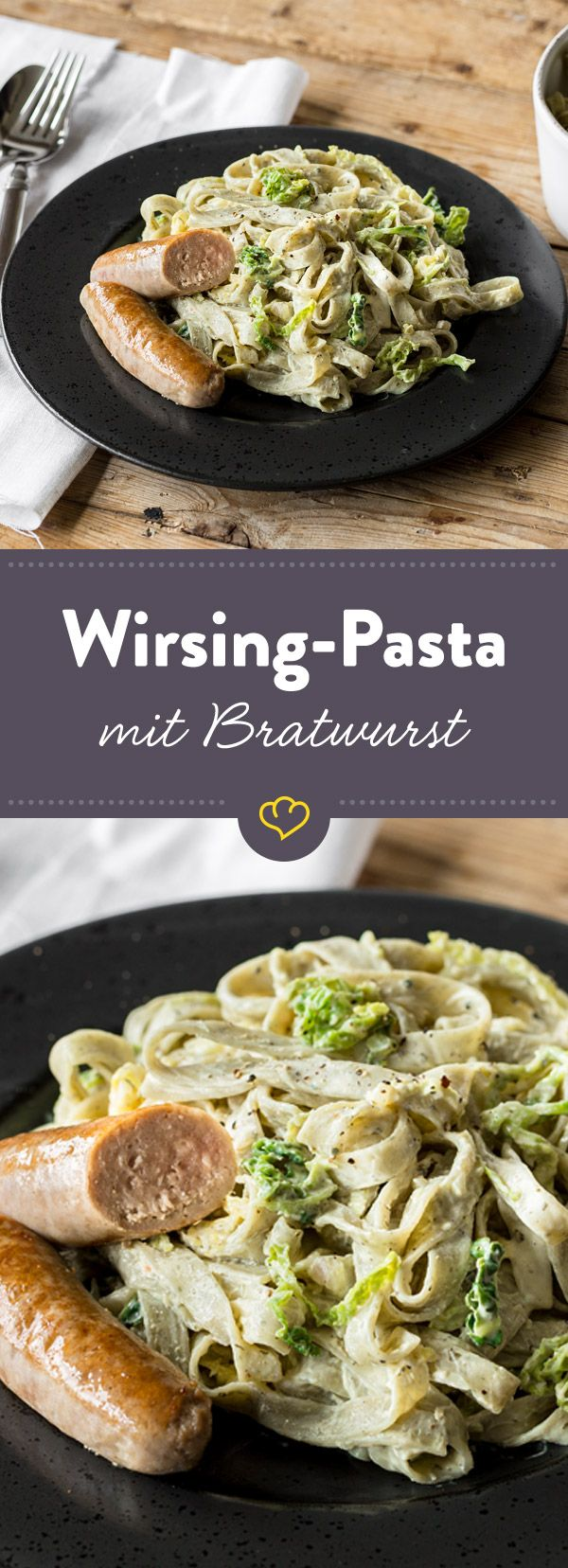 wirsing pasta mit bratwurst und zitronen frischk se sauce rezept pasta pinterest pasta. Black Bedroom Furniture Sets. Home Design Ideas
