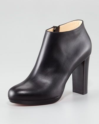 Rock Platform Bootie by Christian Louboutin at Neiman Marcus...NEED TO TAKE OUT A LOAN~!!
